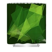 Salad Polygon Pattern Shower Curtain