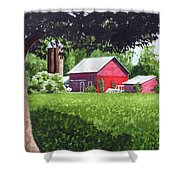 Salem County Farm, Framed Shower Curtain