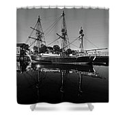 Salem Friendship Reflection Black And White Shower Curtain