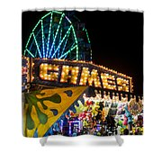 Salem Ma Halloween Carnival Games Booth Shower Curtain