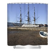 Salem Maritime National Historic Site In Salem  Massachusetts Usa Shower Curtain