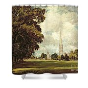 Salisbury Cathedral From Lower Marsh Close Shower Curtain
