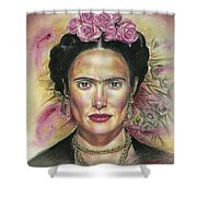 Salma Hayek As Frida Kahlo Shower Curtain