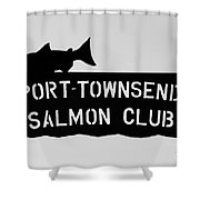 Salmon Club Shower Curtain
