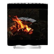 Salmon On The Fire Shower Curtain