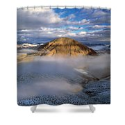 Salmon River Mountains Shower Curtain