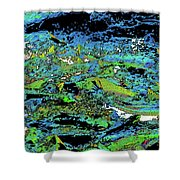 Salmon Run 7 Shower Curtain