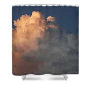 Salmon Sky Shower Curtain