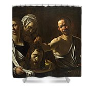 Salome Receives The Head Of Saint John The Baptist Shower Curtain