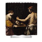 Salome Receiving The Head Of St John The Baptist Shower Curtain