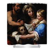 Salome With The Head Of Saint John The Baptist Shower Curtain by Onorio Marinari