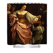 Salome With The Head Of St John Baptist 1640 Shower Curtain