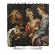 Salome With The Head Of St. John The Baptist Shower Curtain