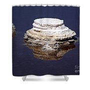 salt cristal at the Dead Sea Israel  Shower Curtain
