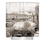 Salt Lake City Landmarks Shower Curtain