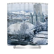 Salt Lake City Tabernacle And Temple Shower Curtain