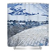 Salt Lake City Tabernacle In Snow Shower Curtain