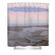 Salt Lake Sunset Shower Curtain