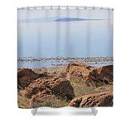 Salt Lake View 3 Shower Curtain