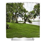 Salt Mine Reminder Accident  Louisiana  Shower Curtain