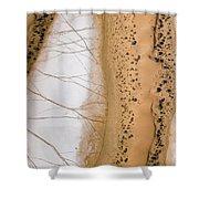 Salt Pans Deep In The Kalahari With 4x4 Shower Curtain