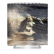 Salt Spray Surfing Shower Curtain
