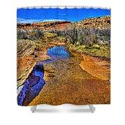 Salt Wash Near Wolf Ranch Arches Np Moab Utah Shower Curtain