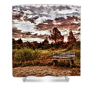 Saltmarsh Set A Spell Shower Curtain