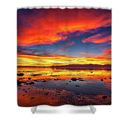 Salton Sea Sunset Shower Curtain