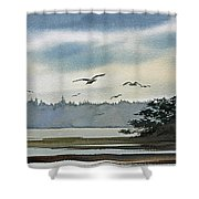 Saltwater Bay Shower Curtain