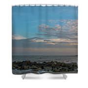 Salty Air Over Breach Inlet Shower Curtain