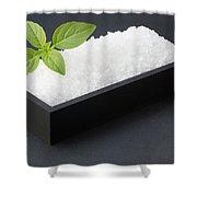 Salty Basil Shower Curtain