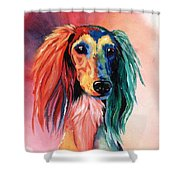 Saluki Sunset Shower Curtain