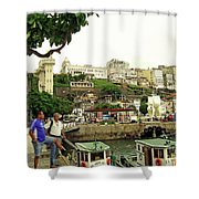 Salvador's Old Port At Noon Shower Curtain