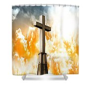 Salvation  Shower Curtain by Aaron Berg