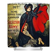 Salvation Army Poster, 1919 Shower Curtain