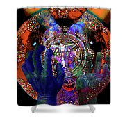 Salvation Within Solar Light Shower Curtain