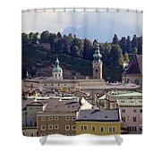 Salzburg City View Three Shower Curtain