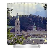 Salzburg City View Two Shower Curtain