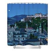 Salzburg City With Hohensalzburg Fortress, Salzburger Land, Austria Shower Curtain