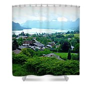 Salzburg Lake District Shower Curtain