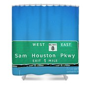 Sam Houston Pkway Shower Curtain
