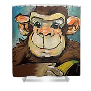 Sam The Monkey Shower Curtain