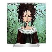 Samantha's Chocolate Tree Shower Curtain