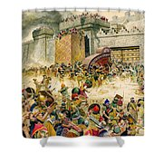 Samaria Falling To The Assyrians Shower Curtain
