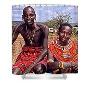 Samburu Couple Shower Curtain