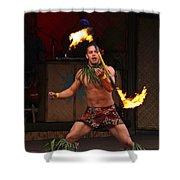 Samoan Fire Dance Shower Curtain