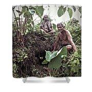 Samoan Planters Shower Curtain