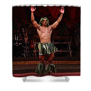 Samoan Warrior Shower Curtain