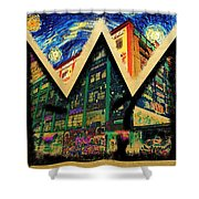 samoL Starry Night Shower Curtain